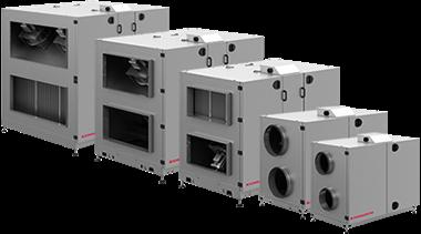VEX200 kompakte aggregater med varmegenvinding via roterende varmeveksler
